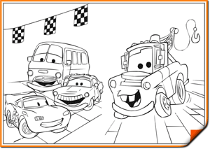Раскраски тачки онлайн для детей