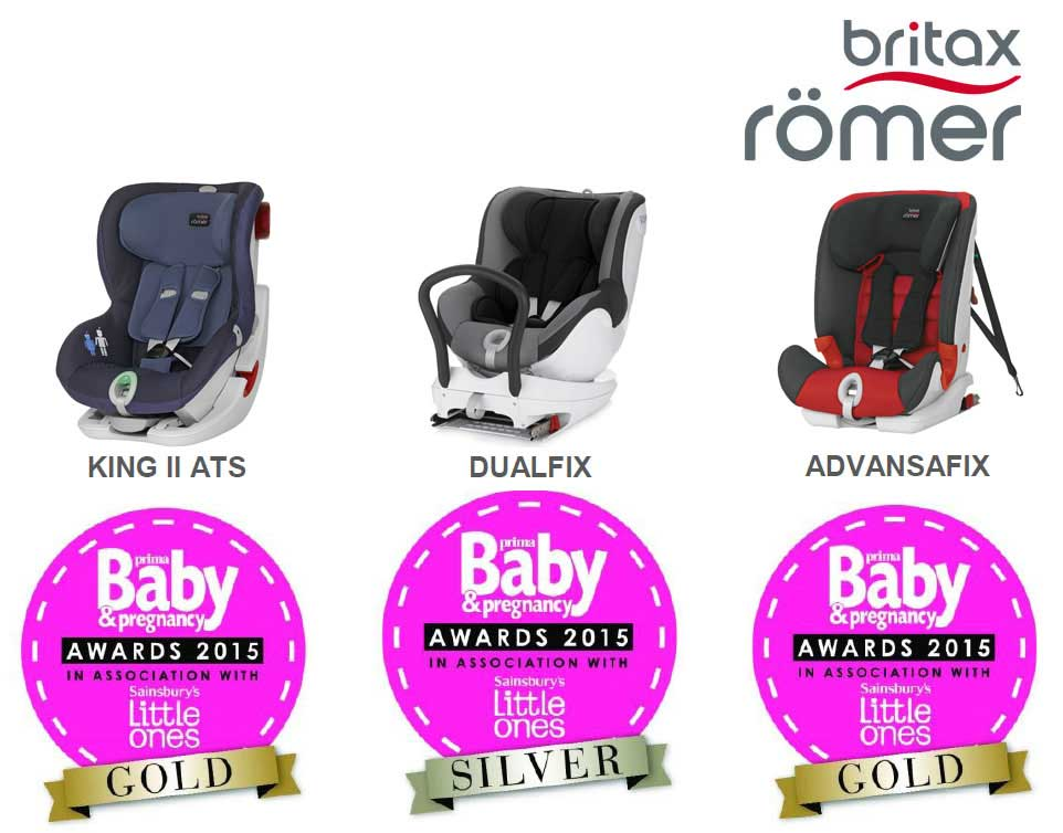 Наград Britax Romer в премии Prima Baby & Pregnancy Awards 2015