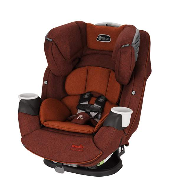 Автокресло Evenflo SafeMax Platinum Series Brown Red