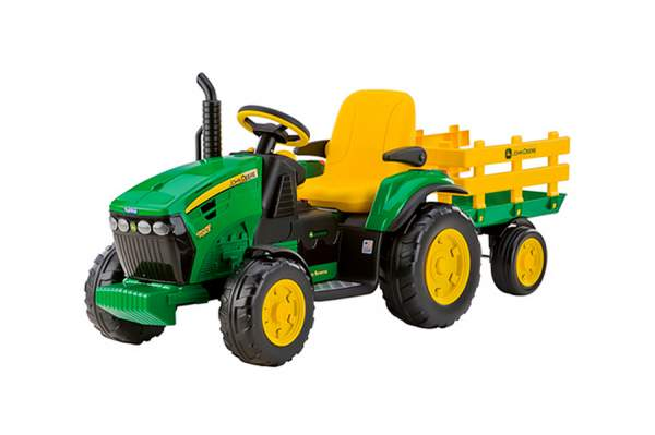 Электромобиль Peg-Perego John Deere Ground Force + Trailer Зеленый